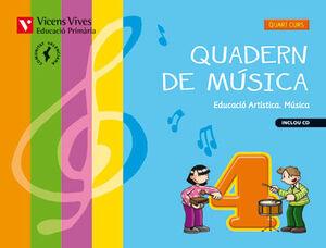 QUADERN MUSICA 4 VALENCIA+CD