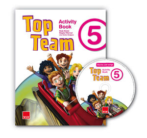 TOP TEAM 5 ACTIVITY BOOK + CD STORIES AND SONGS