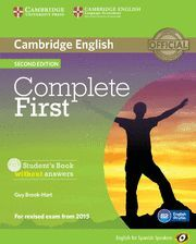 COMPLETE FIRST FOR SPANISH SPEAKERS STUDENT'S BOOK WITHOUT ANSWERS WITH CD-ROM 2