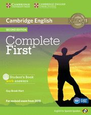 COMPLETE FIRST FOR SPANISH SPEAKERS STUDENT'S BOOK WITH ANSWERS WITH CD-ROM 2ND