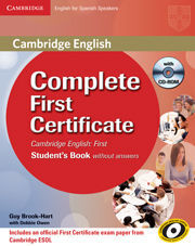 COMPLETE FIRST FOR SPANISH SPEAKERS SELF-STUDY PACK (STUDENT'S BOOK WITH ANSWERS