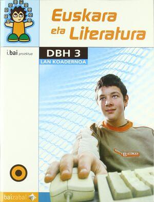 EUSKARA ETA LITERATURA -DBH 3- LAN KOADERNOA
