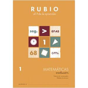 CUADERNO RUBIO MATEMATICAS EVOL.1 UNI