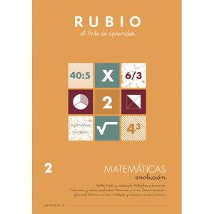 CUADERNO RUBIO MATEMATICAS EVOL.2 UNI