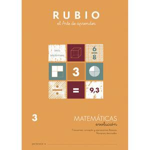 CUADERNO RUBIO MATEMATICAS EVOL.3 UNI