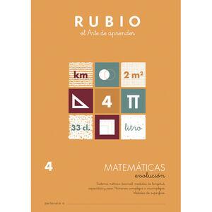 CUADERNO RUBIO MATEMATICAS EVOL.4 UNI