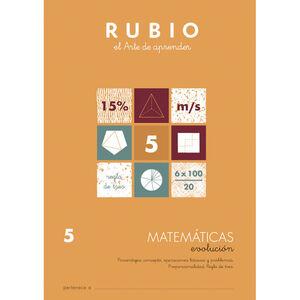 CUADERNO RUBIO MATEMATICAS EVOL.5 UNI