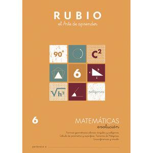 CUADERNO RUBIO MATEMATICAS EVOL.6 UNI