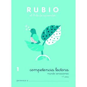 CUADERNO RUBIO C.LECT.1MUNDO SENSACI.