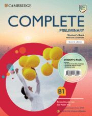 COMPLETE PRELIMINARY SECOND EDITION ENGLISH FOR SPANISH SPEAKERS. STUDENT'S PACK