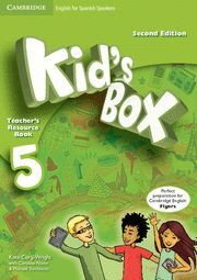 KID'S BOX FOR SPANISH SPEAKERS  LEVEL 5 TEACHER'S RESOURCE BOOK WITH AUDIO CDS (