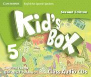 KID'S BOX FOR SPANISH SPEAKERS LEVEL 5 CLASS AUDIO CDS (4) 2ND EDITION