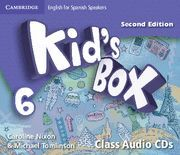 KID'S BOX FOR SPANISH SPEAKERS  LEVEL 6 CLASS AUDIO CDS (4) 2ND EDITION