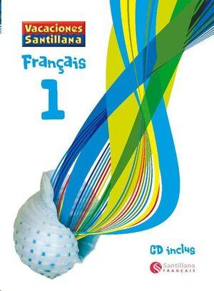 LIBRO DE VACACIONES FRANCES 1º.ESO (+CD) SANTILLANA