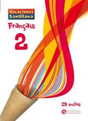 LIBRO DE VACACIONES FRANCES 2º.ESO (+CD) SANTILLANA