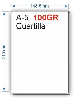NAVIGATOR PAPEL 100GR 500HOJAS TAMAÑO CUARTILLA A5 BLANCO