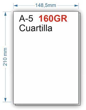 NAVIGATOR PAPEL 160GR 500HOJAS TAMAÑO CUARTILLA A5 BLANCO