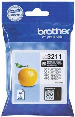 CARTUCHO INKJET BROTHER LC3211BK NEGRO DCP-J572DW/J772DW/J774DW MFC-J491DW/ J497DW/J890DW/J895DW