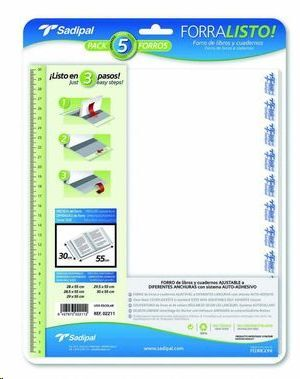 SADIPAL FORRO PLASTICO SADIPAL Nº18 180X390MM 02000 CS52090