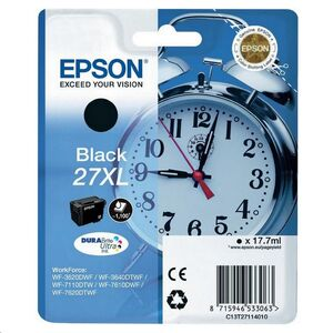 CART EPSON INK JET  WORKFORCE WF-3620DWF 3640DWF WF-7110DTW NEGRO 27 XL  ALTA CAPACIDAD