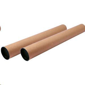 FAIBO TUBO CARTON P/ENVIOS 80X750MM 950-5 CON TAPAS DE PLASTICO