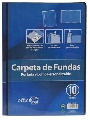 FRAGA CARPETA 10 FUNDAS PERSONALIZABLE DIN A4 COLORES