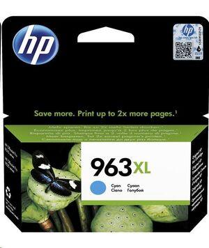 HP CART. HEWLETT PACKARD HP OFFICEJET PRO 9010, 9012, 9014, 9015, 9016, 9018, 9019, 9020, 9022, 9023, 9025, 9026 COLOR CYAN 963XL 3JA27AE