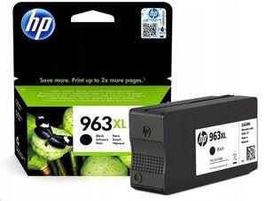 HP CART. HEWLETT PACKARD HP OFFICEJET PRO 9010, 9012, 9014, 9015, 9016, 9018, 9019, 9020, 9022, 9023, 9025, 9026 COLOR NEGRO 963XL 3JA30AE