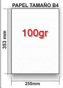 NAVIGATOR PAQUETE 500 HOJAS PAPEL 100GR FORMATO B4 250X353MM