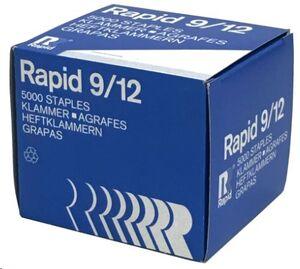 RAPID CAJA 5000 GRAPAS DE GRUESOS 9/12 GALVANIZADA REF 11795200