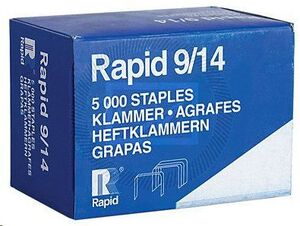 RAPID CAJA 5000 GRAPAS DE GRUESOS 9/14 GALVANIZADA REF 11800000